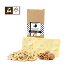 Tableta artesana de chocolate blanco con nueces